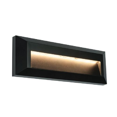 LED Black abs plastic & clear Polycarbonate Wall Light BX61214-17 by Endon (Double Insulated)